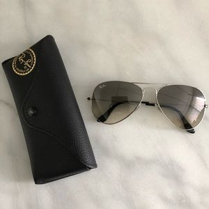 Silver Ray Ban Large Aviators